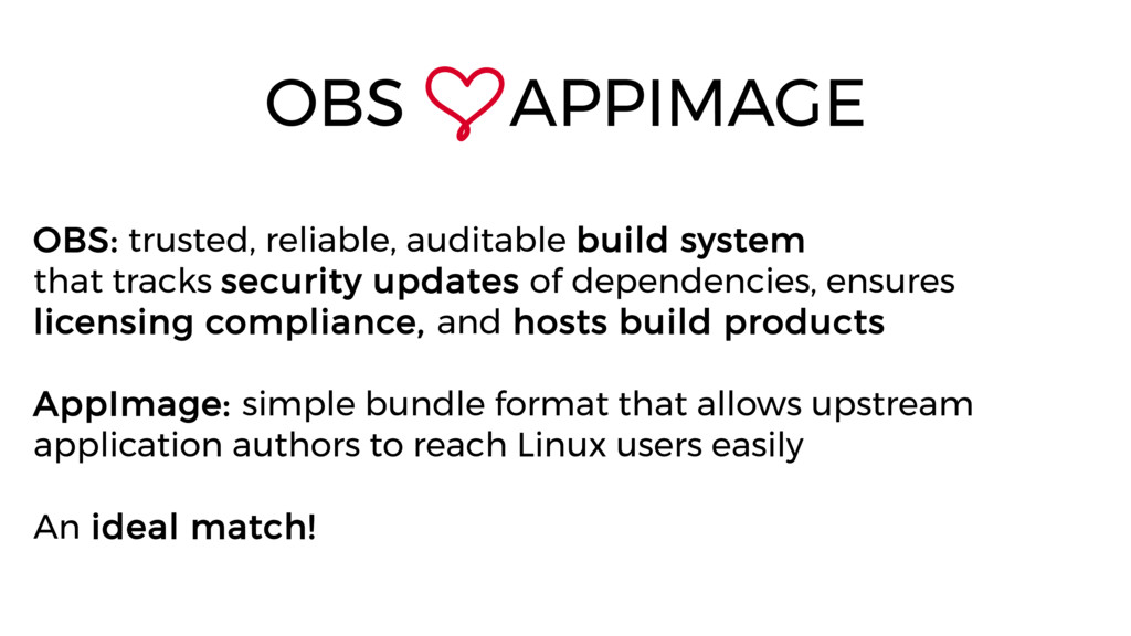OBS: trusted, reliable, auditable build system ...
