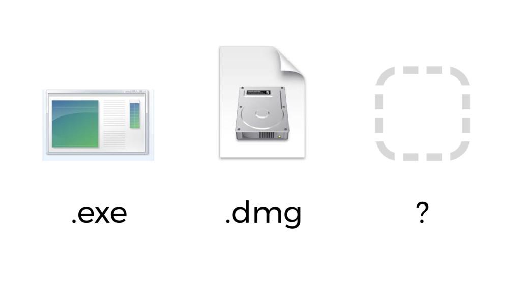 .exe .dmg ?