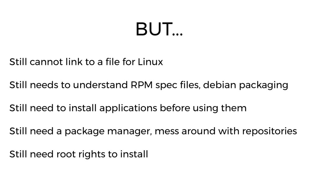 Still cannot link to a file for Linux Still nee...