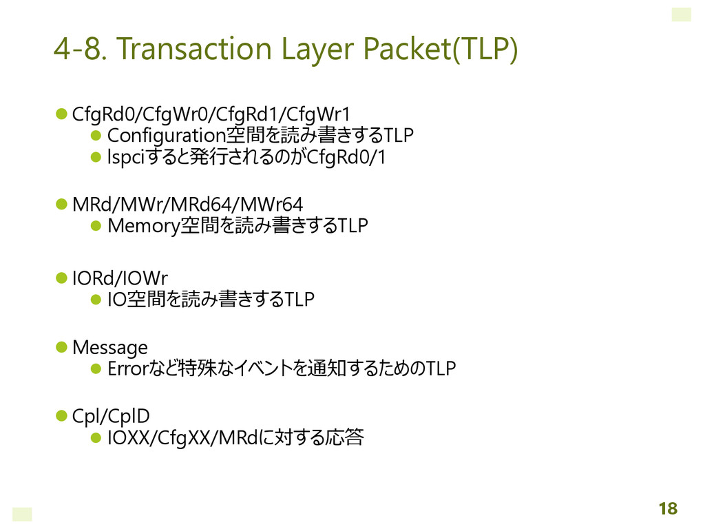 4-8. Transaction Layer Packet(TLP)  CfgRd0/Cfg...