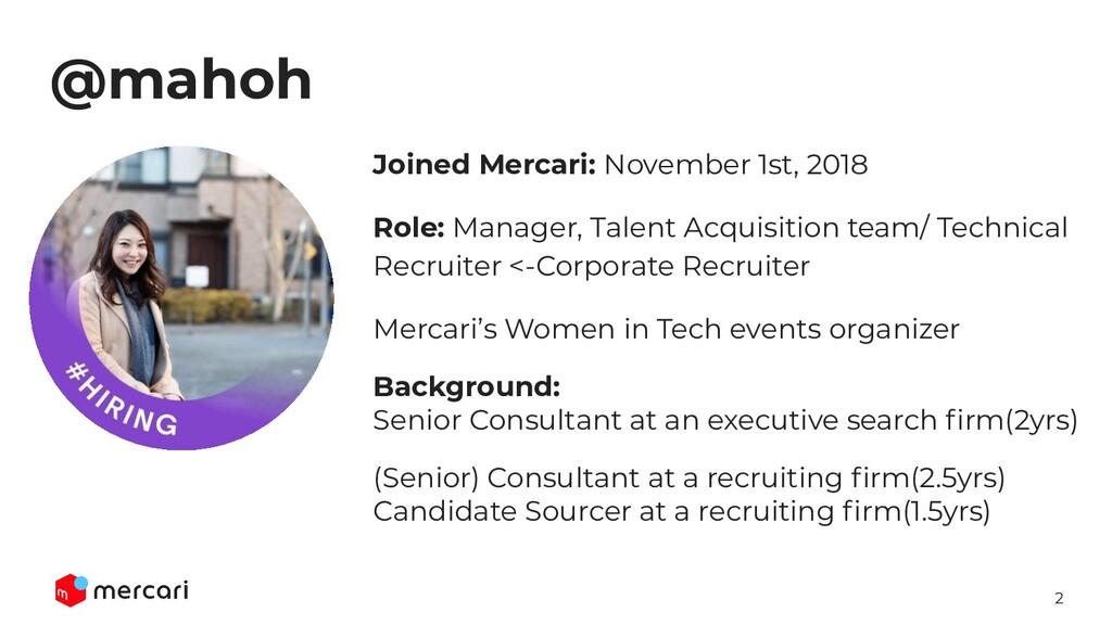 2 @mahoh Joined Mercari: November 1st, 2018 Rol...