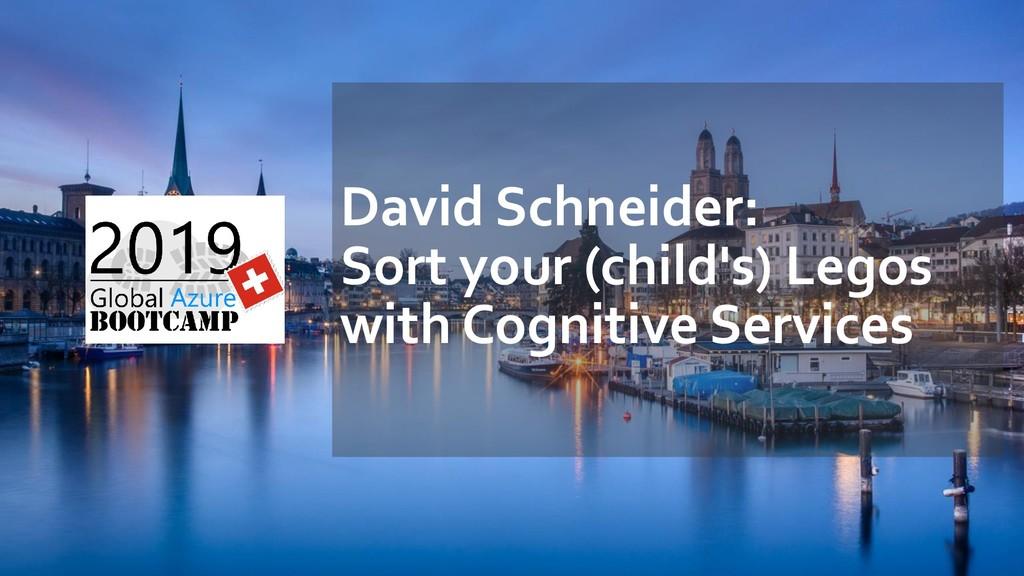 David Schneider: Sort your (child's) Legos with...