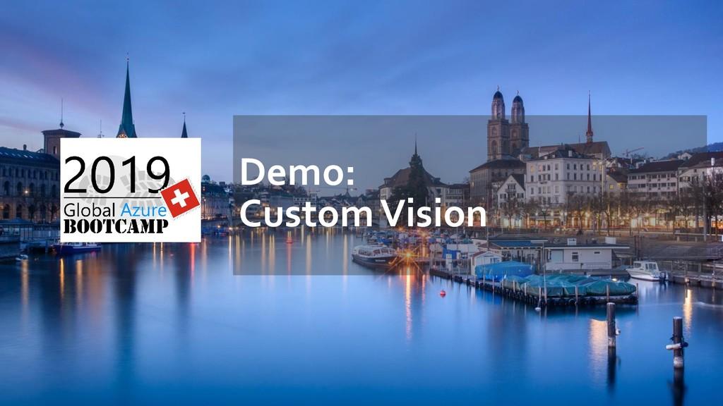 Demo: Custom Vision