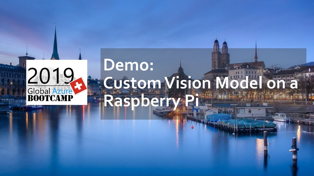 Demo: Custom Vision Model on a Raspberry Pi