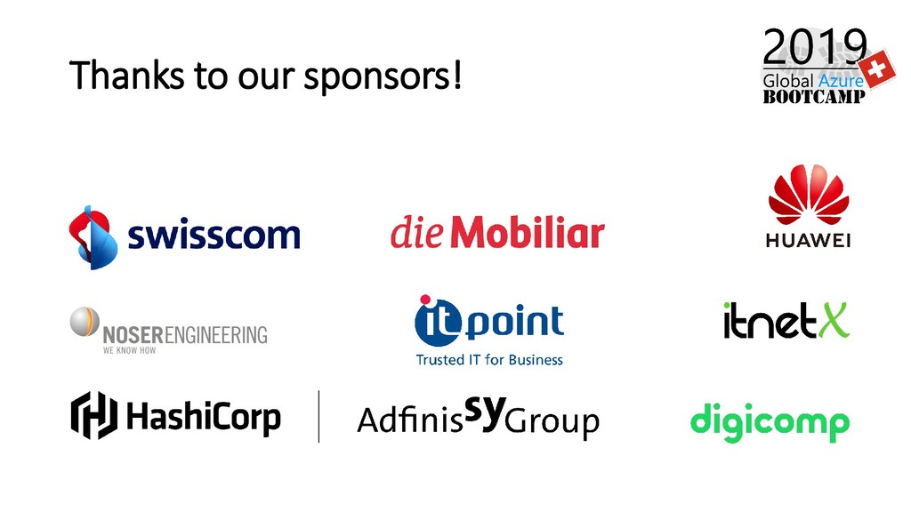Thanks to our sponsors!