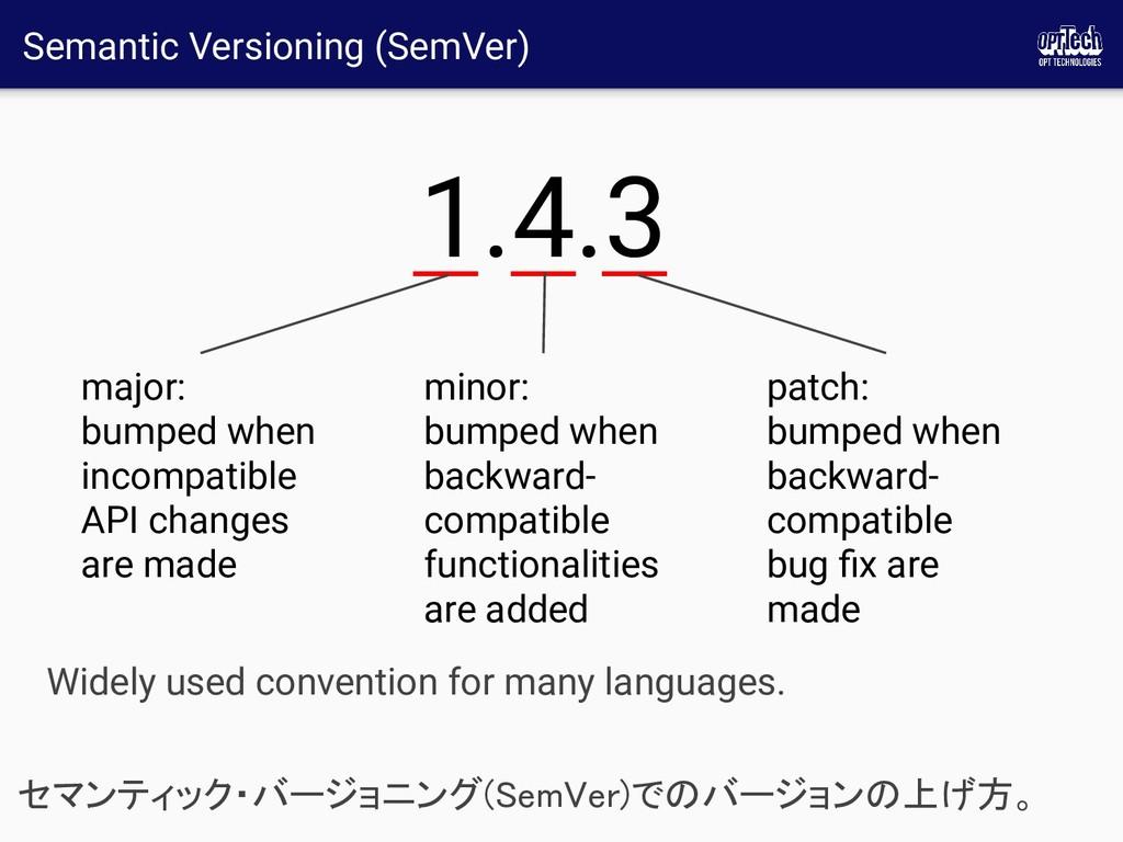 Semantic Versioning (SemVer) セマンティック・バージョニング(Se...