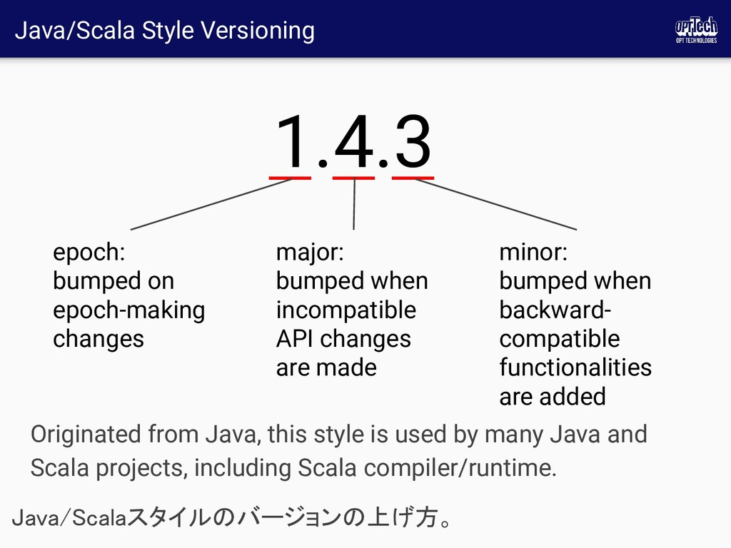 Java/Scala Style Versioning Java/Scalaスタイルのバージョ...