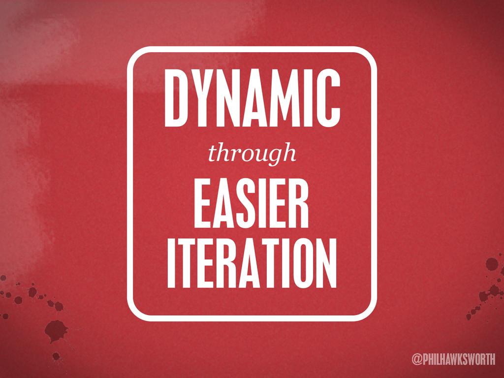 >< {}\ stu @PHILHAWKSWORTH EASIER ITERATION DYN...