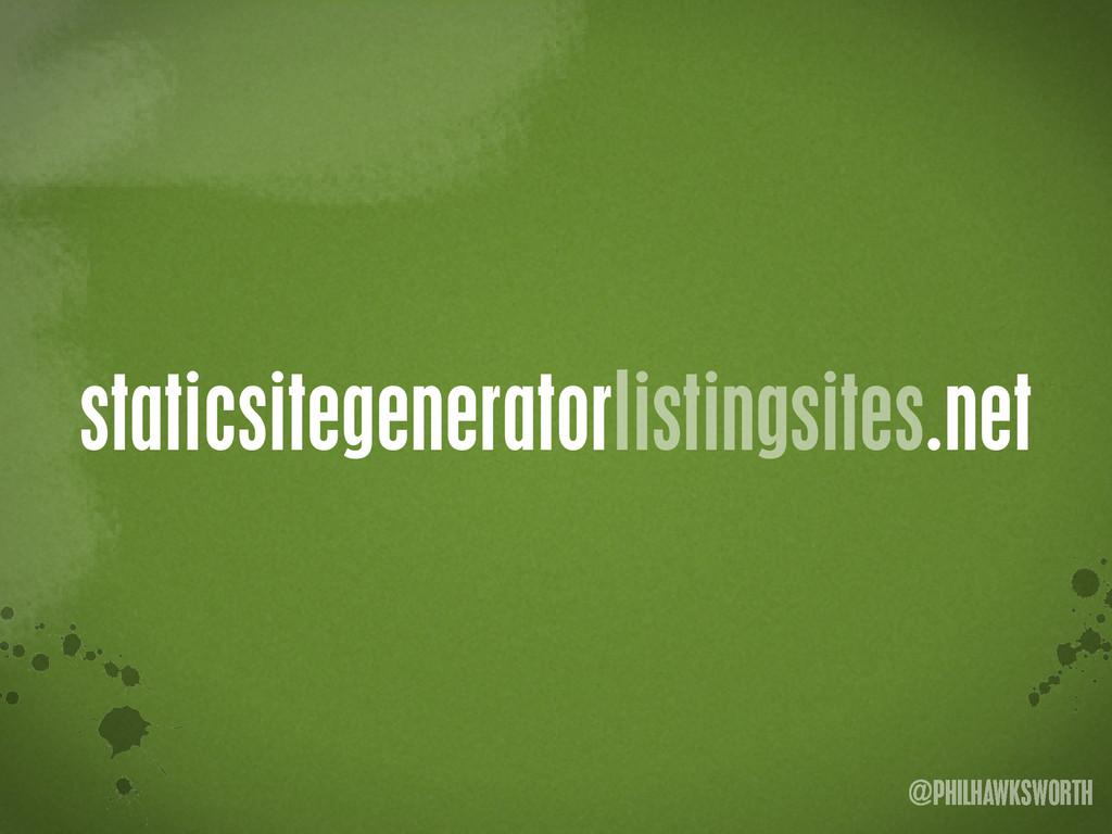 >< {}\ stu @PHILHAWKSWORTH staticsitegeneratorl...