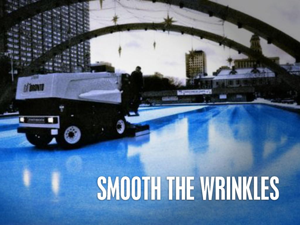 >< {}\ stu @PHILHAWKSWORTH SMOOTH THE WRINKLES
