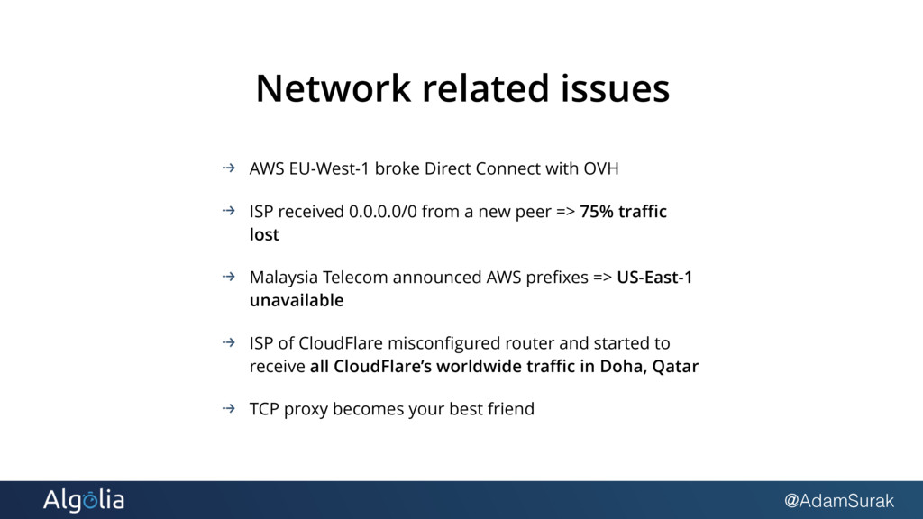 @AdamSurak Network related issues AWS EU-West-1...