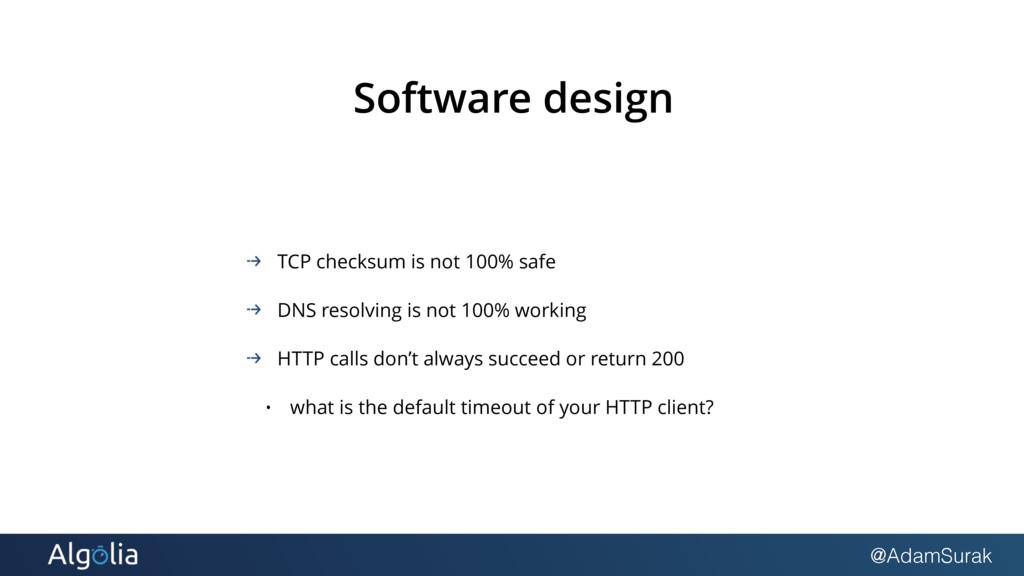 @AdamSurak Software design TCP checksum is not ...