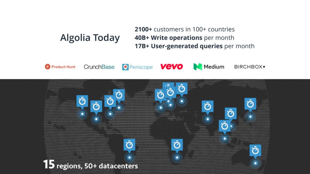 @AdamSurak Algolia Today 15 regions, 50+ datace...