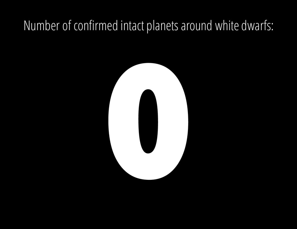 Number of confirmed intact planets around white...