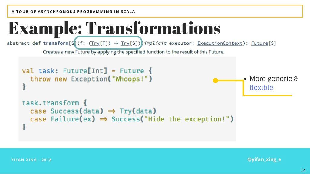 YIFAN XING - 2018 Example: Transformations More...