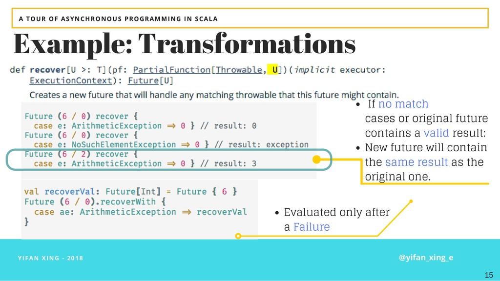 YIFAN XING - 2018 Example: Transformations If n...