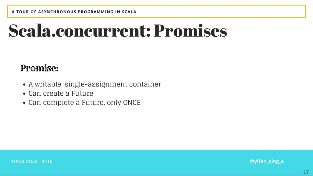 YIFAN XING - 2018 Scala.concurrent: Promises A ...
