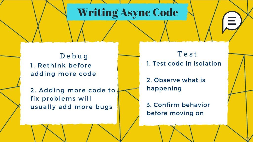 Writing Async Code 1. Rethink before adding mor...