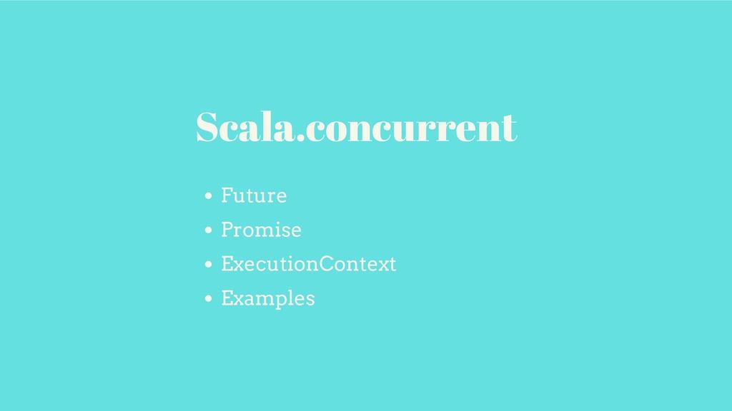 Future Promise ExecutionContext Examples Scala....