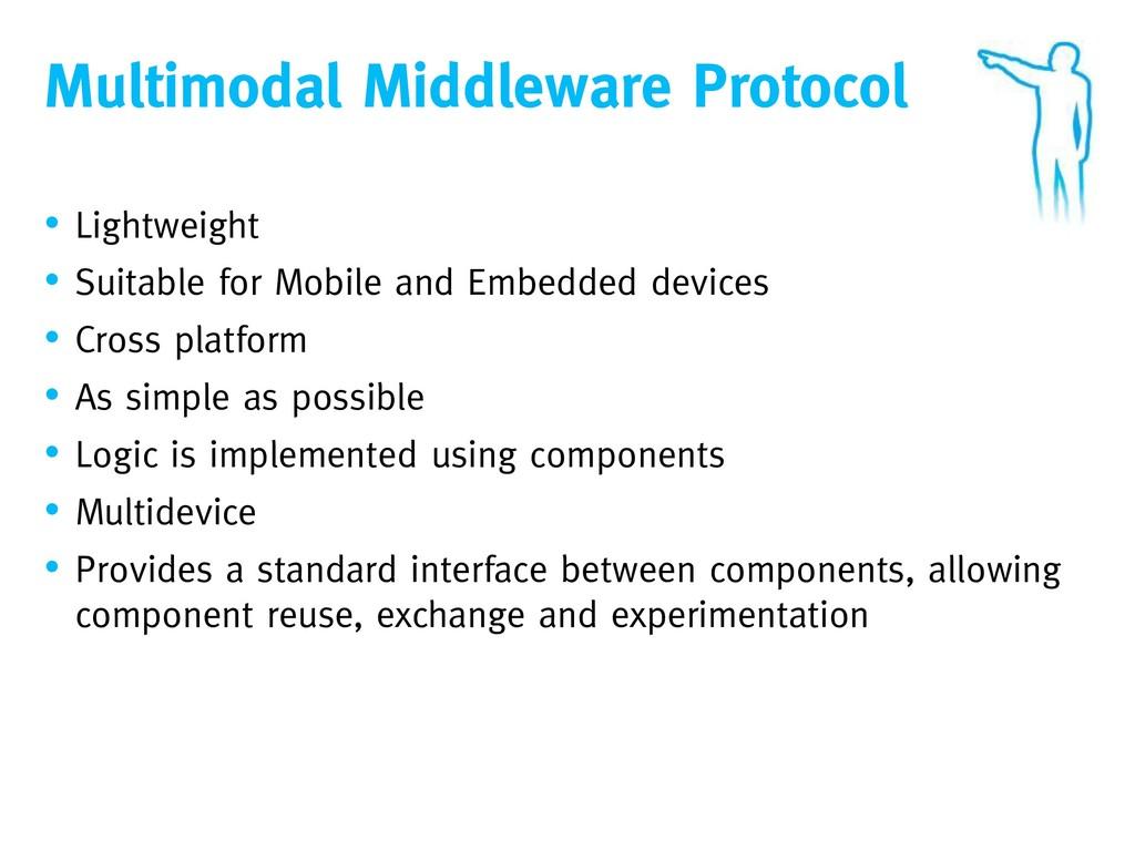 Multimodal Middleware Protocol • Lightweight • ...