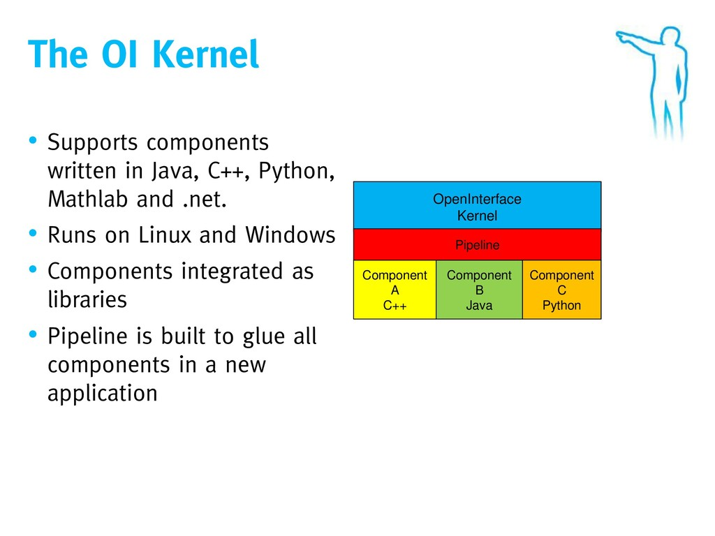 The OI Kernel • Supports components written in ...