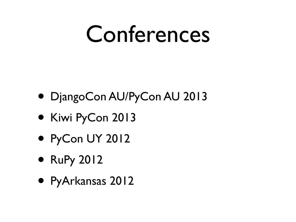 Conferences • DjangoCon AU/PyCon AU 2013 • Kiwi...