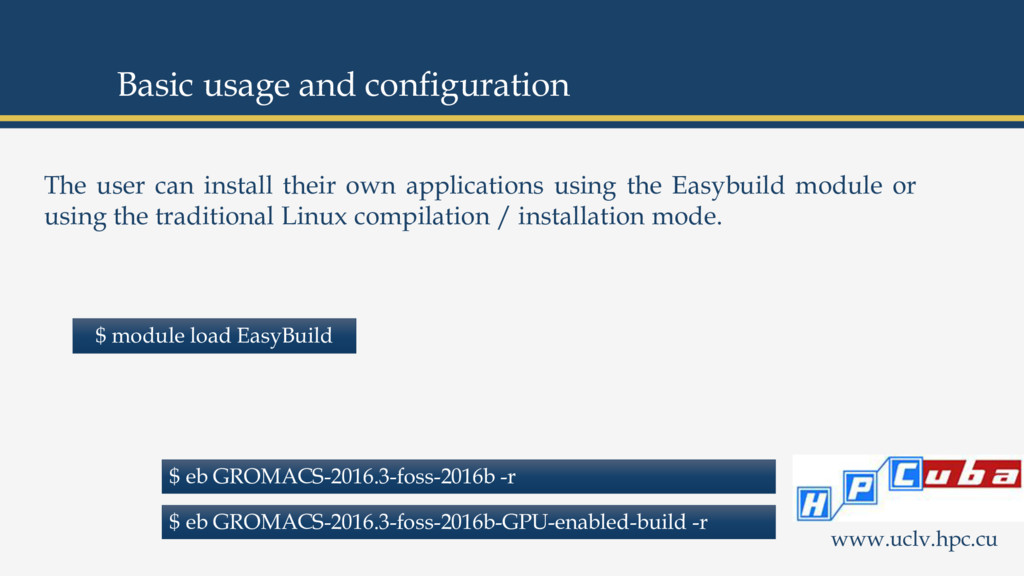 The user can install their own applications usi...