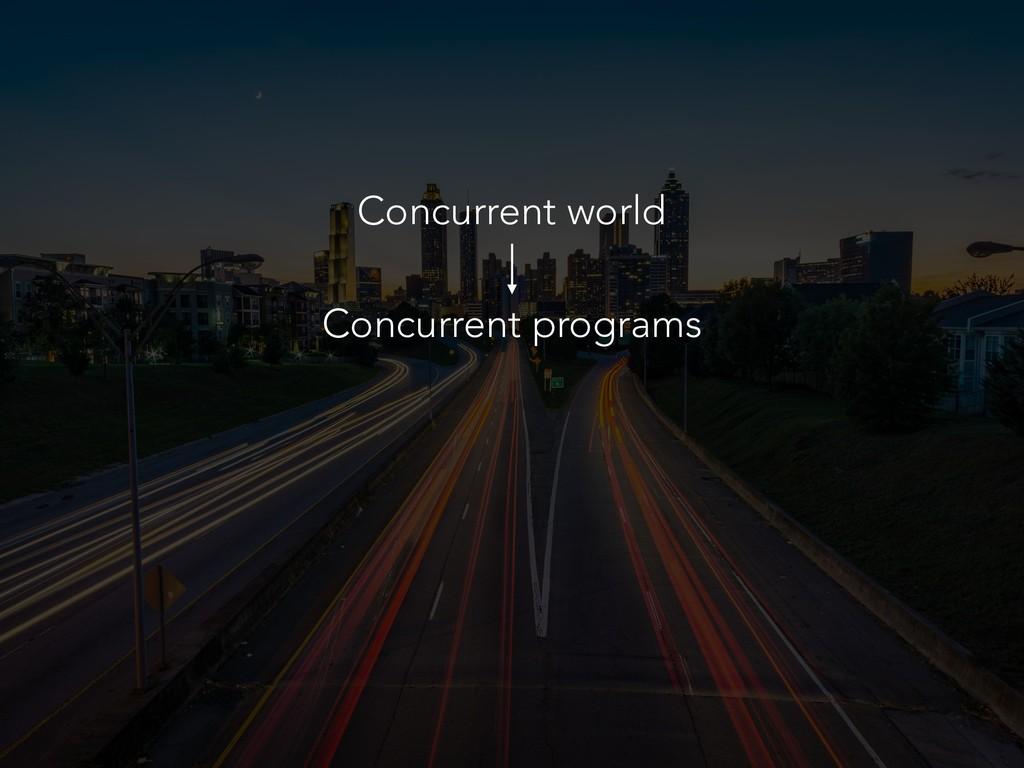 Concurrent world Concurrent programs