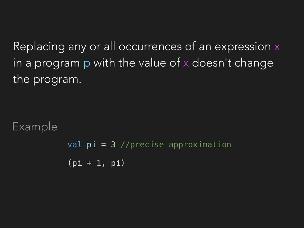 Replacing any or all occurrences of an expressi...