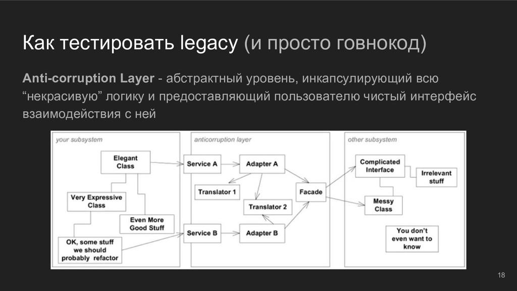 Как тестировать legacy (и просто говнокод) Anti...