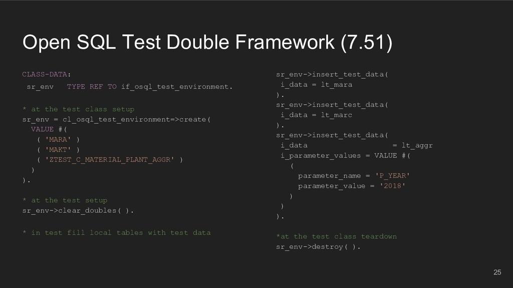 Open SQL Test Double Framework (7.51) CLASS-DAT...