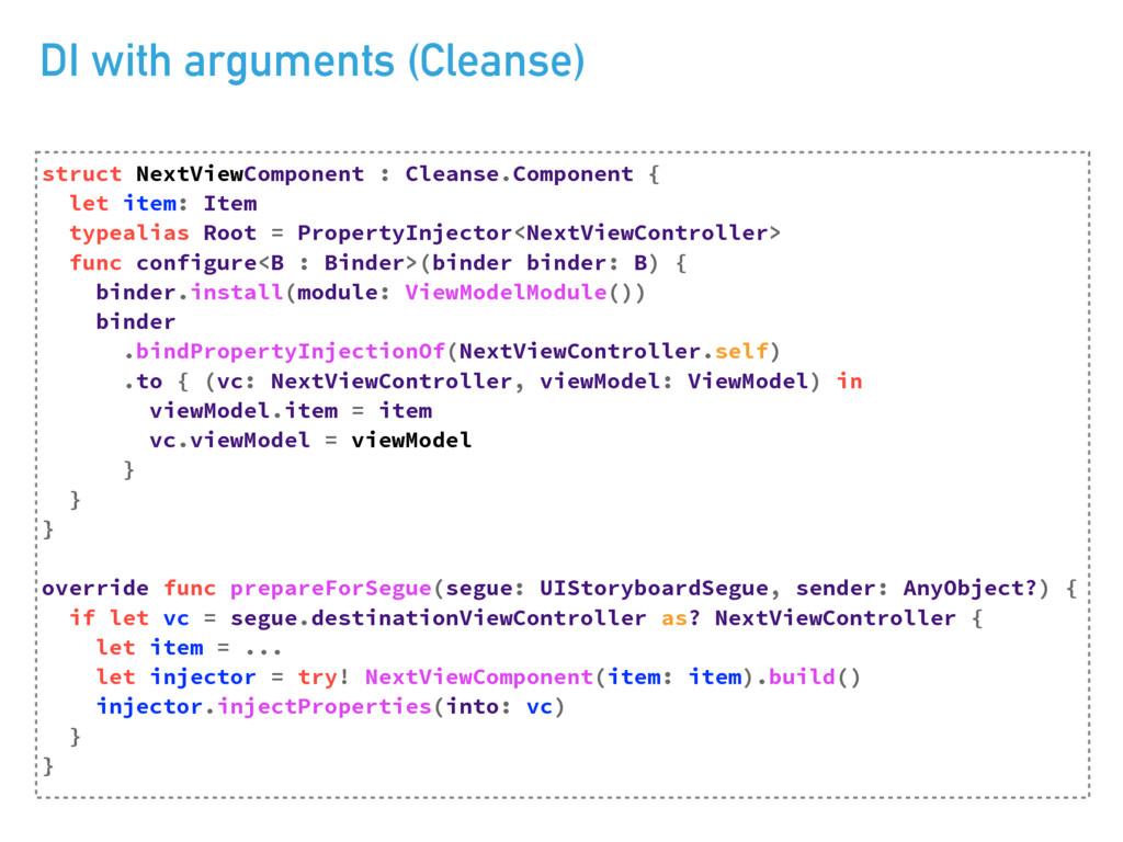 DI with arguments (Cleanse) TUSVDU/FYU7JFX$PNQ...