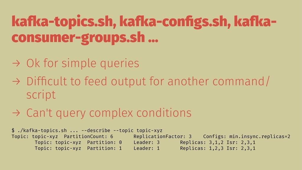 kafka-topics.sh, kafka-configs.sh, kafka- consum...