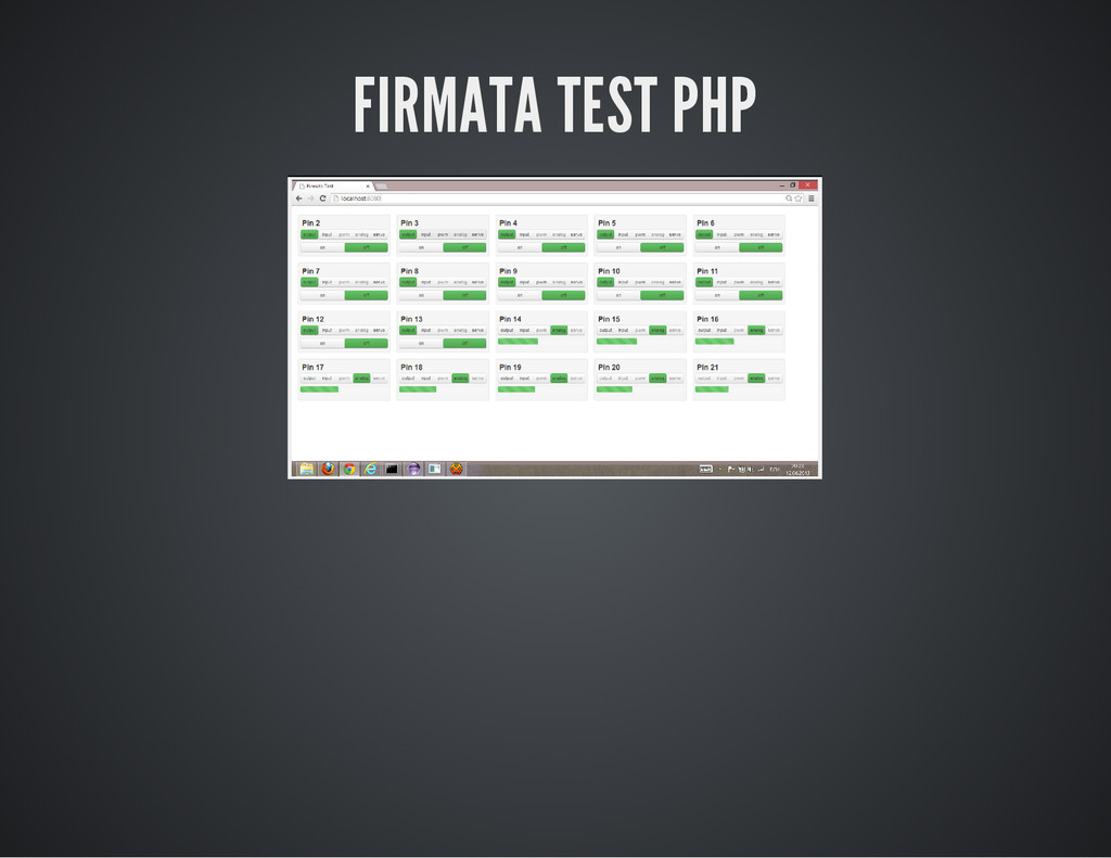 FIRMATA TEST PHP