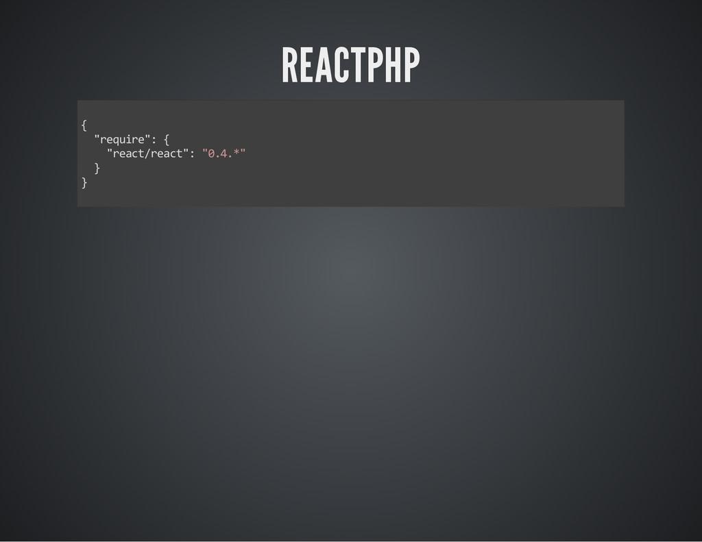 """REACTPHP Ƈ ɑ""""‡""""—‹""""‡ɑśƇ ɑ""""‡ƒ…–ŵ""""‡ƒ…–ɑśɑɥ..."""