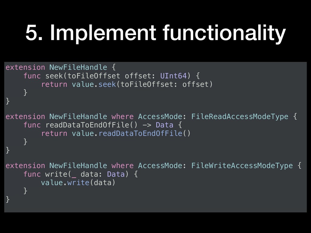 5. Implement functionality extension NewFileHan...