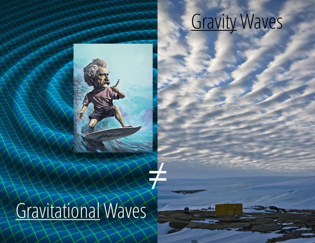 Gravitational Waves Gravity Waves ≠