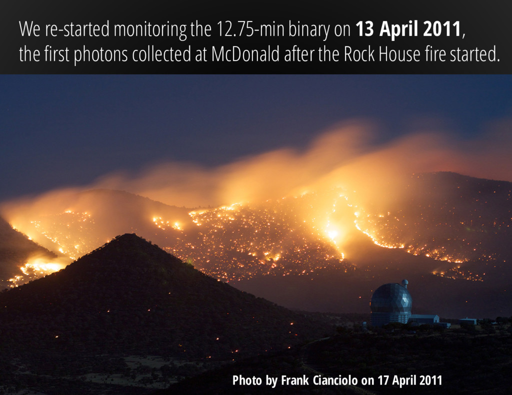 We re-started monitoring the 12.75-min binary o...