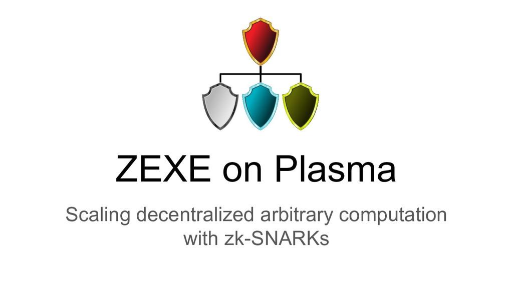 ZEXE on Plasma Scaling decentralized arbitrary ...