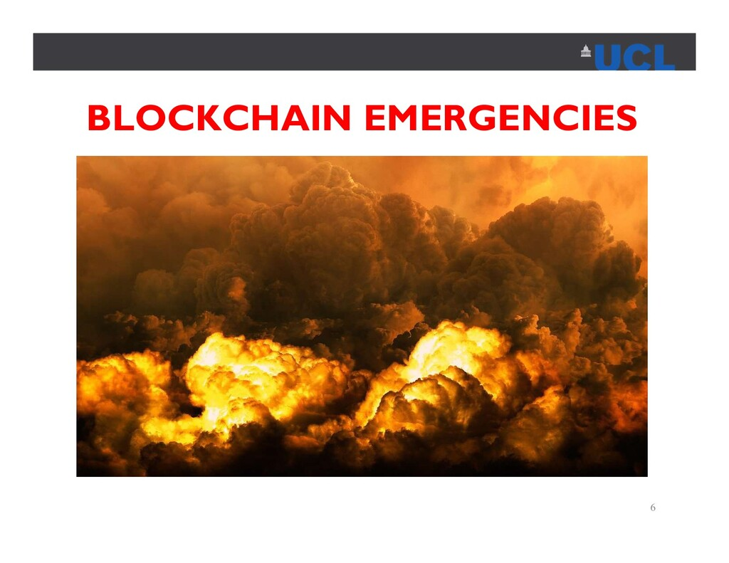 BLOCKCHAIN EMERGENCIES 6
