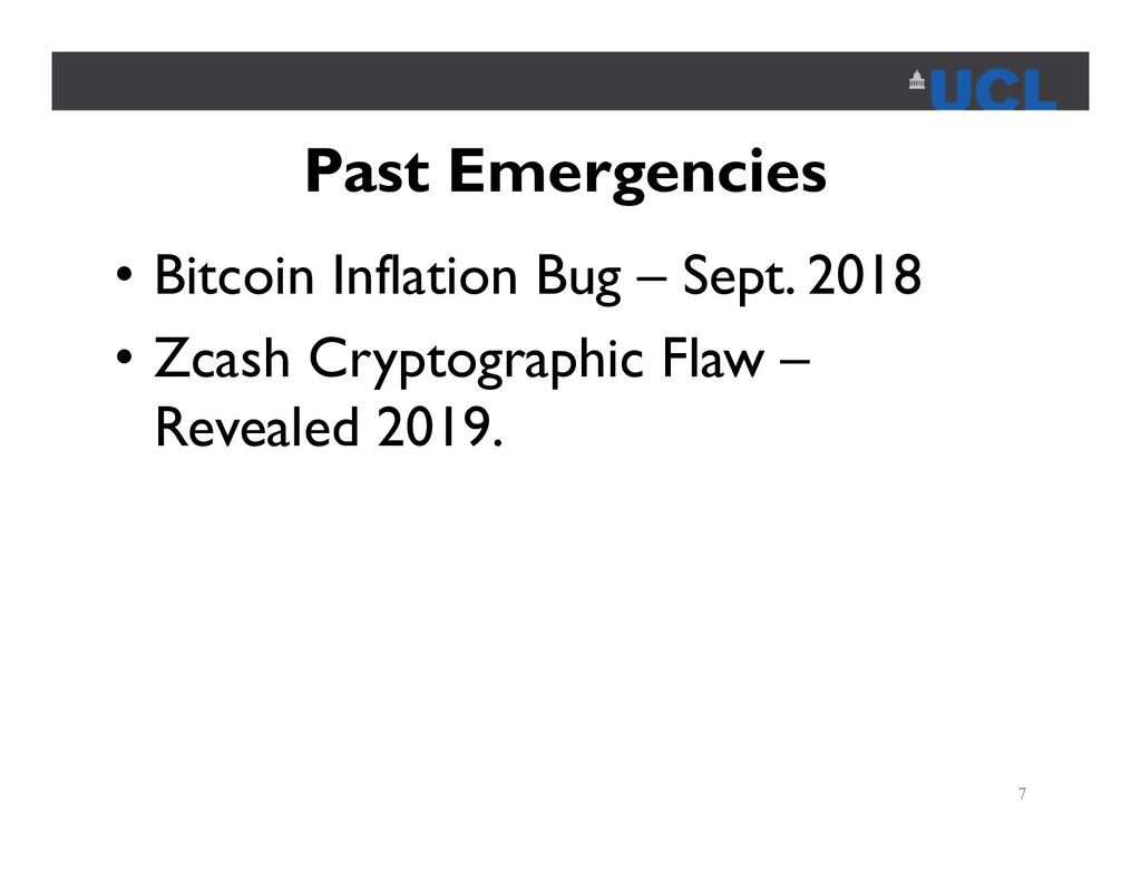 Past Emergencies • Bitcoin Inflation Bug – Sept...