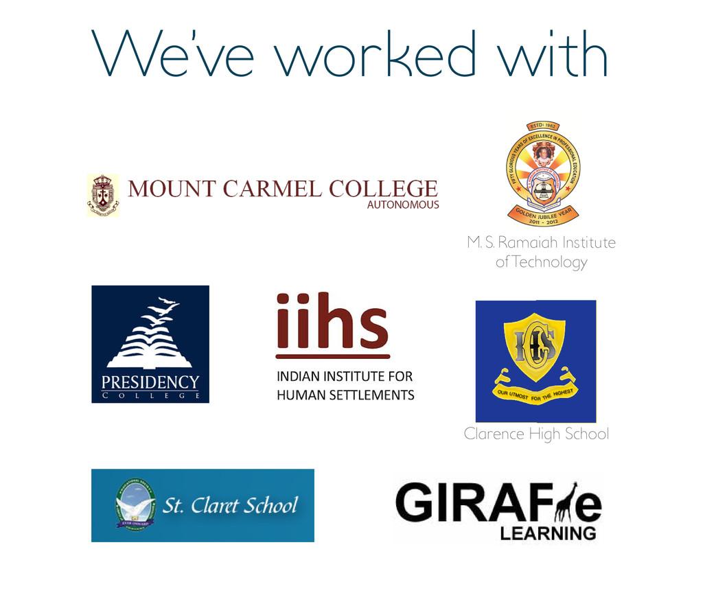 Clarence High School M. S. Ramaiah Institute of...