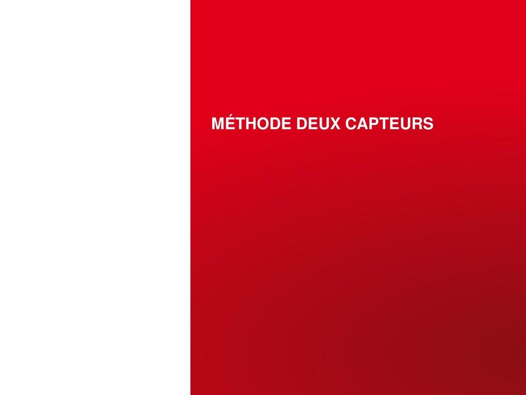 MÉTHODE DEUX CAPTEURS OCTOBRE 12, 2015 | PAGE 1...