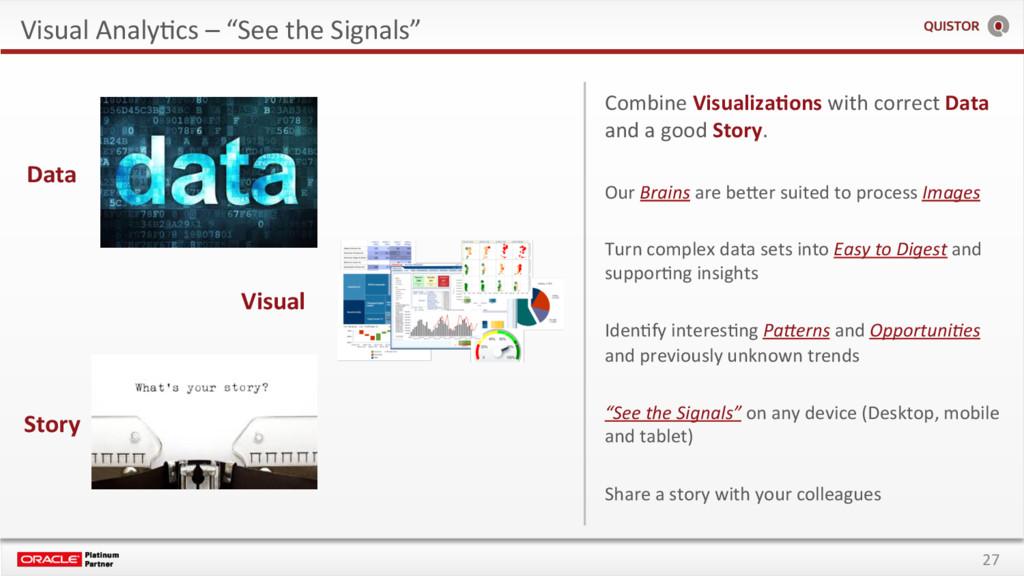 """27 Visual AnalyEcs – """"See the Signals"""" Visual S..."""