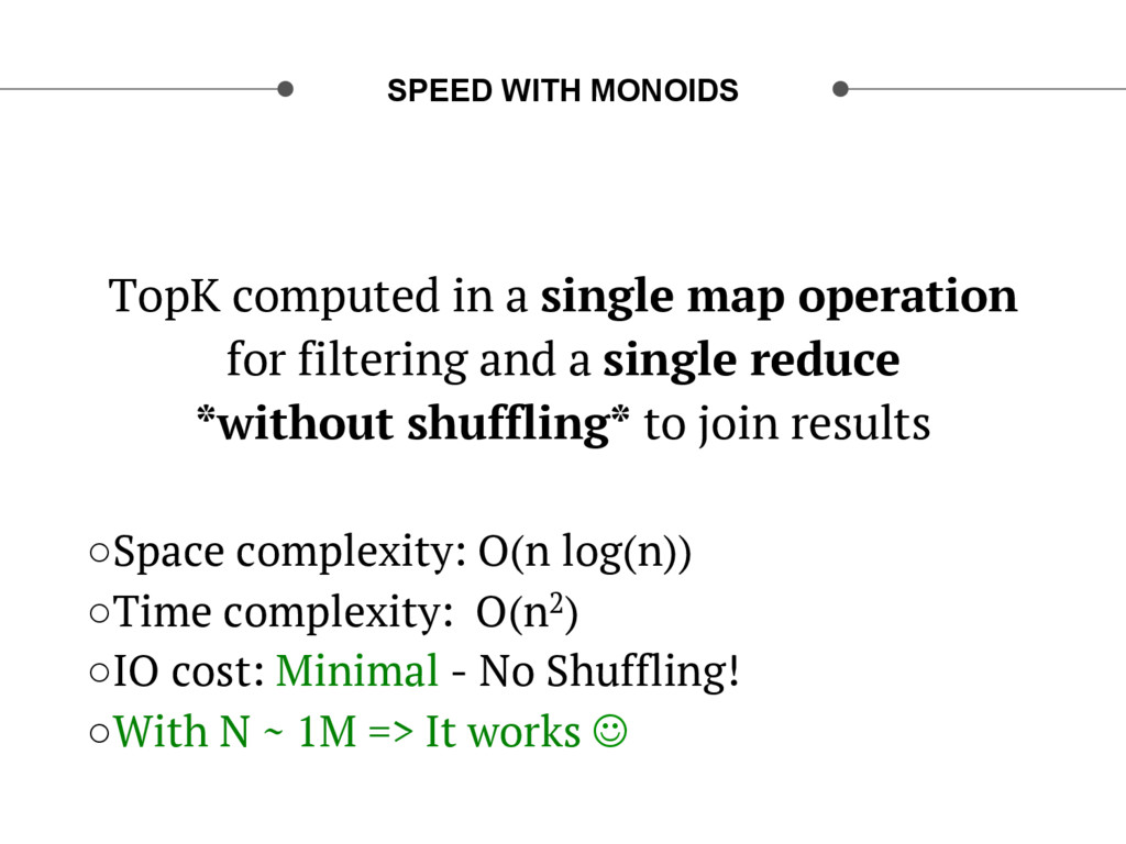 SPEED WITH MONOIDS TopK computed in a single ma...