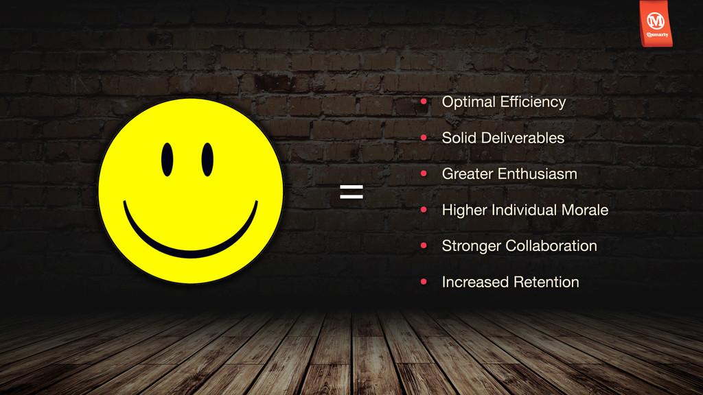 = • Optimal Efficiency • Solid Deliverables • Gre...