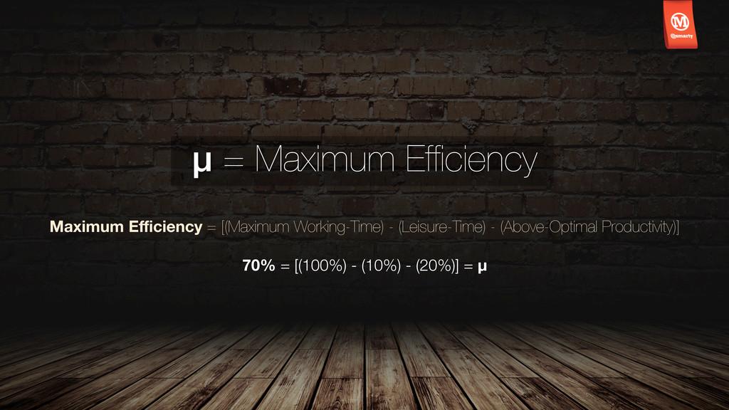 μ = Maximum Efficiency Maximum Efficiency = [(Maxi...