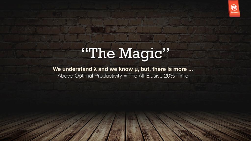 """The Magic"" We understand λ and we know μ, but,..."