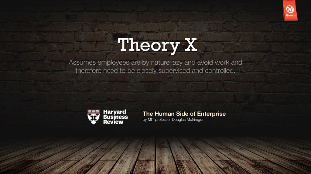 Theory X Assumes employees are by nature lazy a...