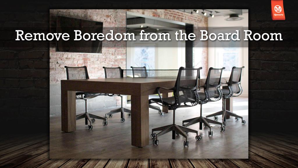 Remove Boredom from the Board Room